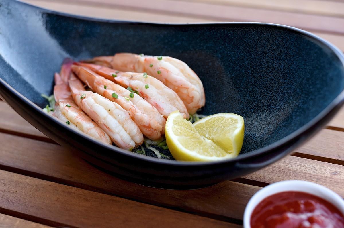 Jumbo Gulf shrimp cocktail at Killen's Steakhouse