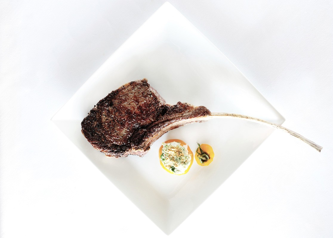Long-bone ribeye at Killen's Steakhouse