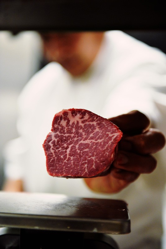 marbled beef at Killen's Steakhouse