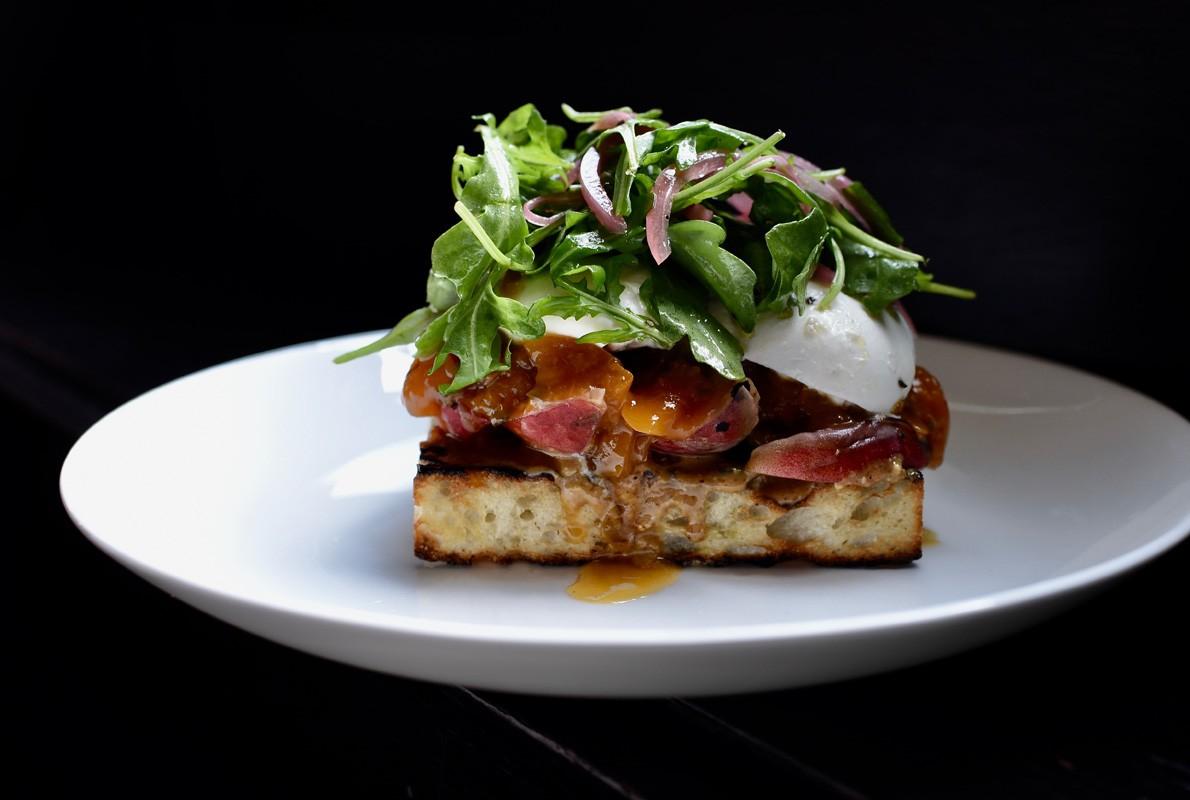 Peach Burrata Toast at Killen's Steakhouse