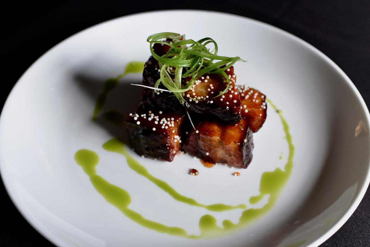 Pork Belly bites at Killen's Steakhouse