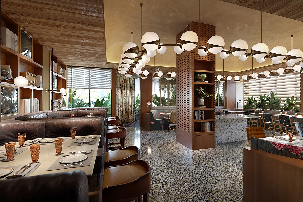 Rosalie dining room rendering