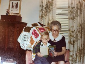 Young Chris Cosentino and his great-grandmother