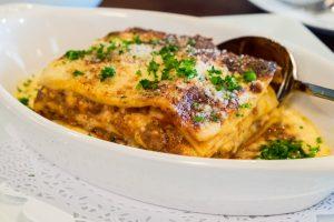 lasagna at Mina