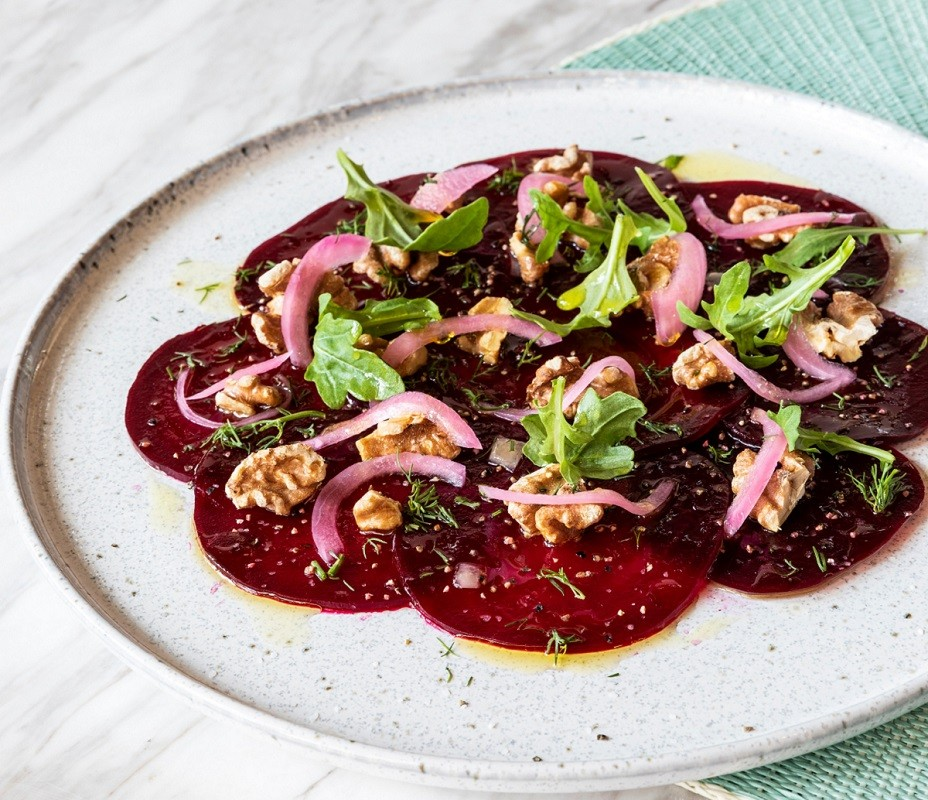 Beet Carpaccio at Yia Yia Marys