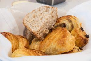 bread basket at La Villa