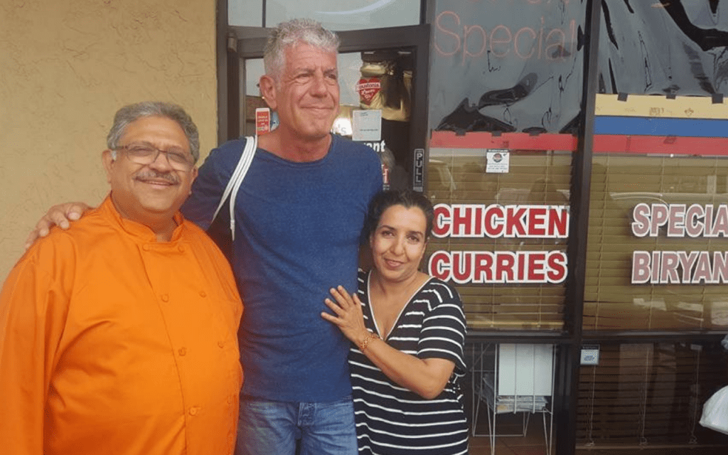 Kaiser Lashkari and Anthony Bourdain at Himalaya Restaurant