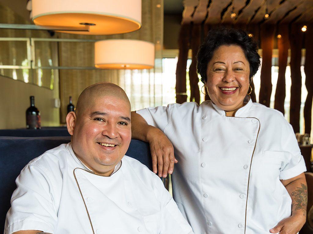 Executive chef Ana Amaya and executive sous chef Adrian Del Angel