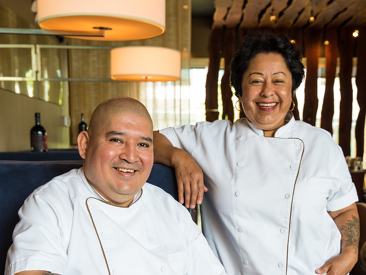 Executive chef Ana Amaya and executive sous chef Adrian Del Angel