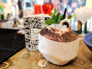 The Seaward cocktail at The Toasted Coconut