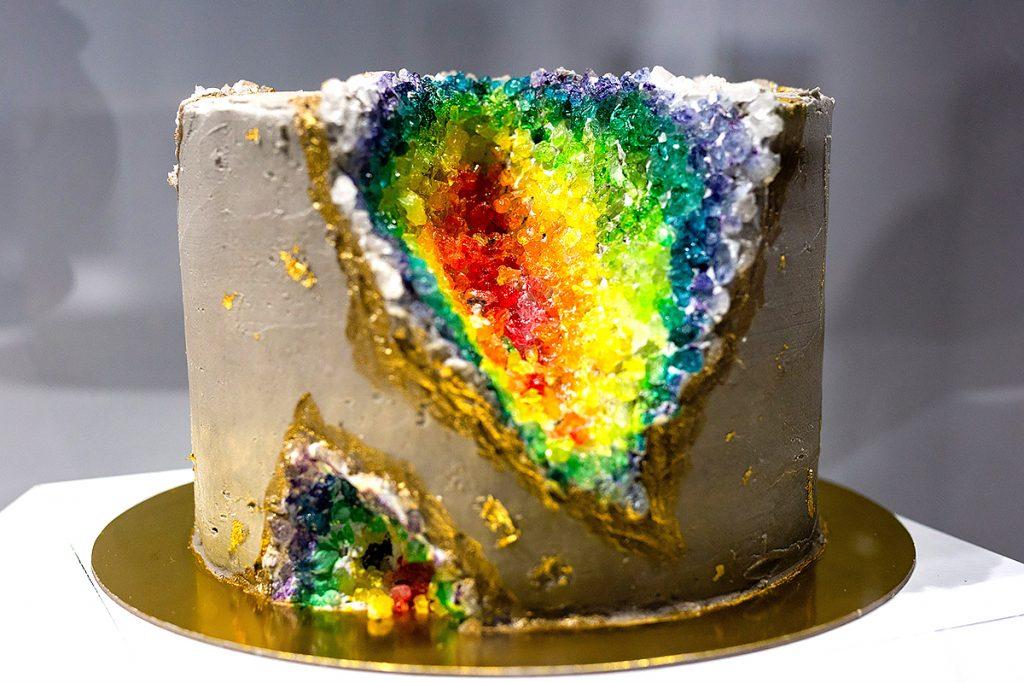 Depressed Cake Shop rainbow geode cake