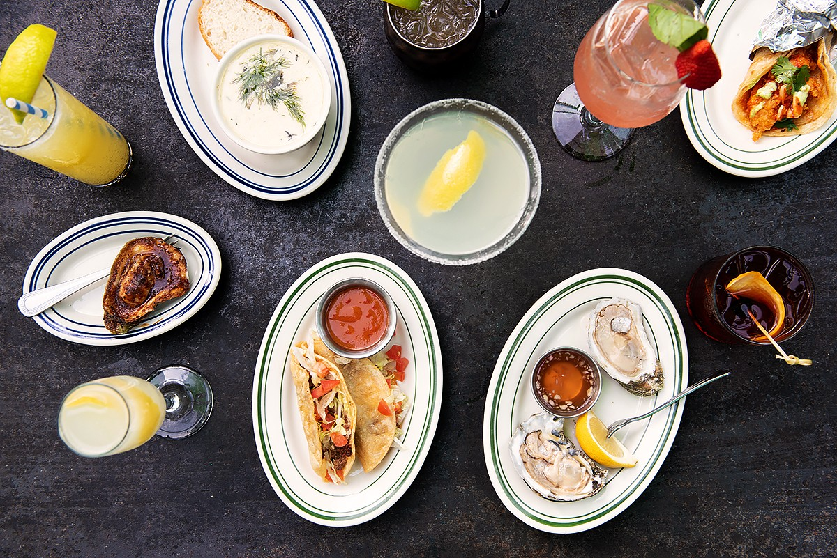 Happy hour dishes and drinks at Liberty Kitchen