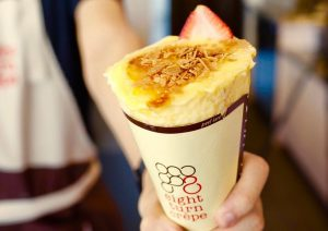 Creme Brulee Crepe at Eight Turn Crepe
