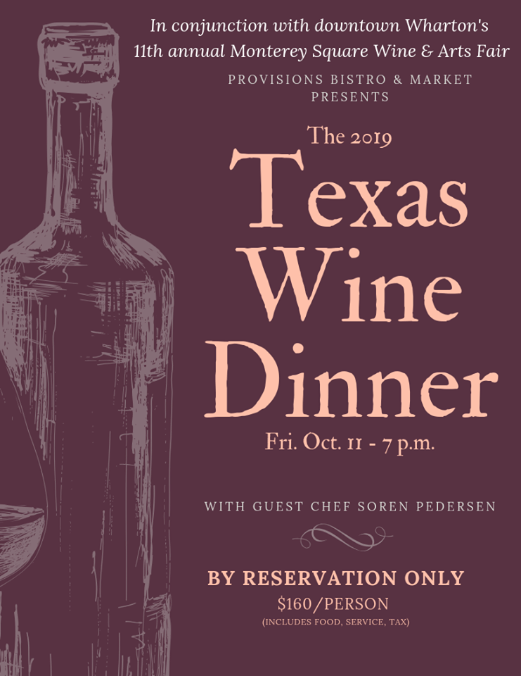 Texas Wine Dinner flyer