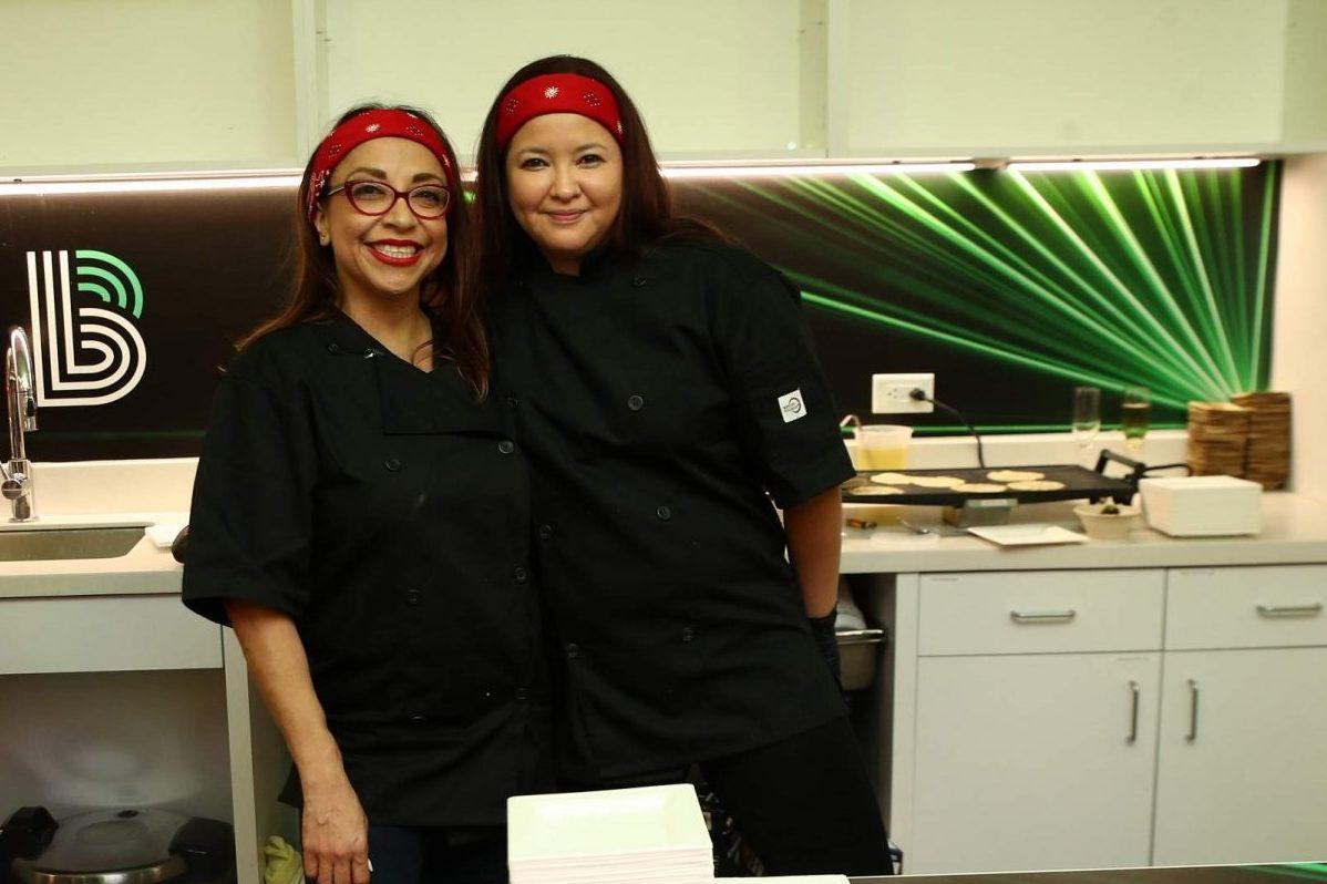 Vanessa Lomeli (left) of Habanera & The Guero
