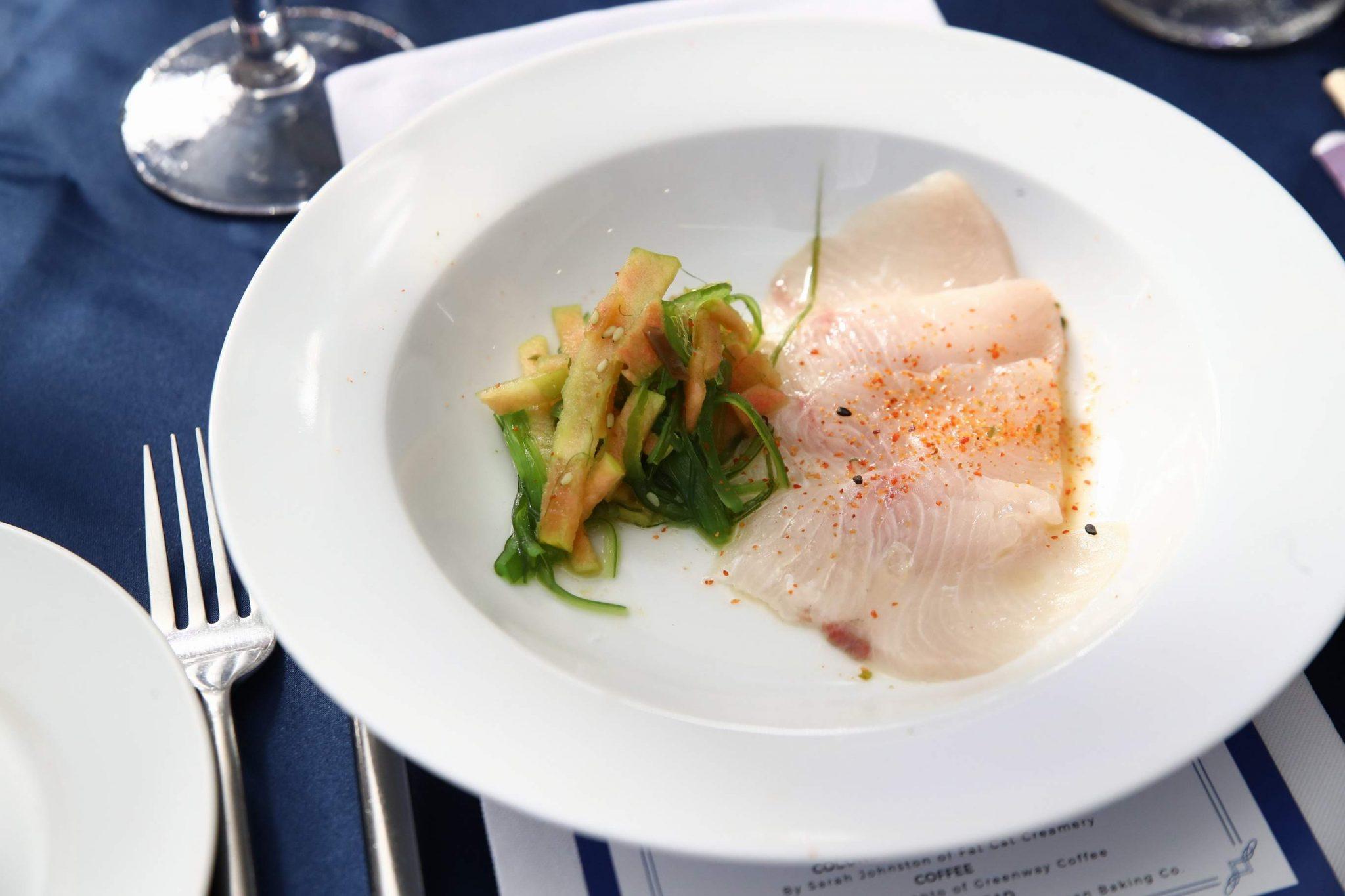 Hamachi crudo by executive chef J.D. Woodward of 1751 Sea Bar
