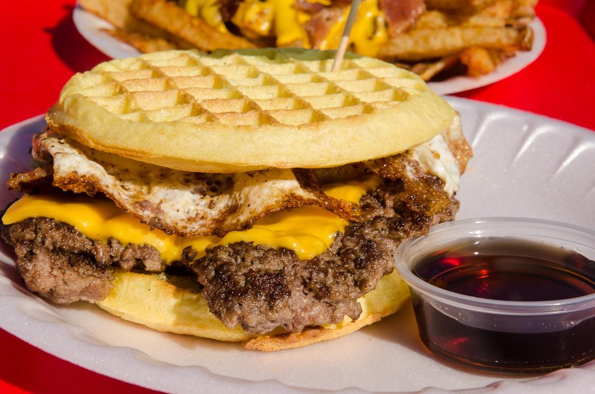 waffle burger at hubcap grill