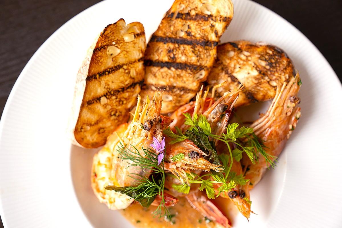 Shrimp Provençal at Safina