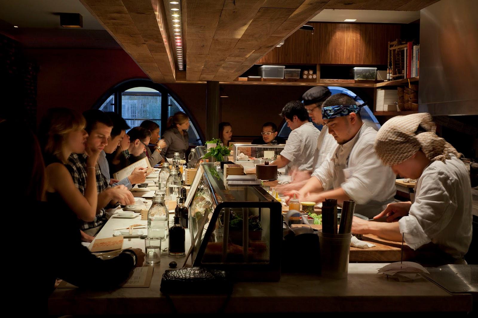 sushi bar at Uchi Houston