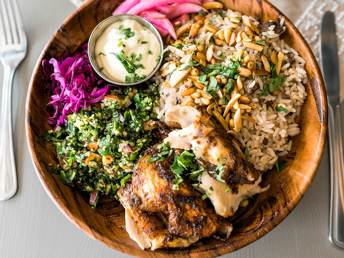 chicken bowl at Craft Pita