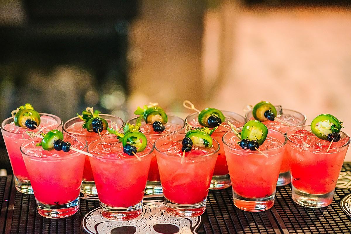 Blueberry, Jalapeño & Cilantro Margaritas at El Big Ba