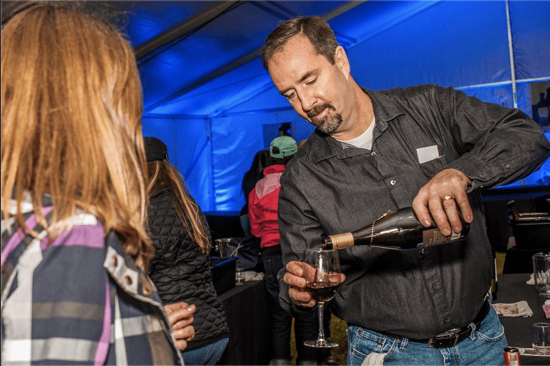 wine pour at Wine Fair Cy-Fair