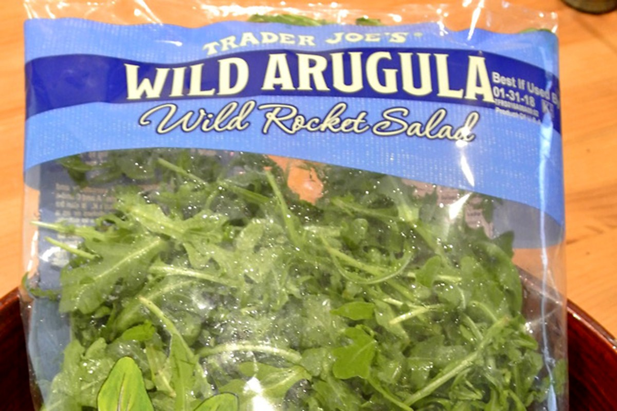 arugula at Trader Joe's