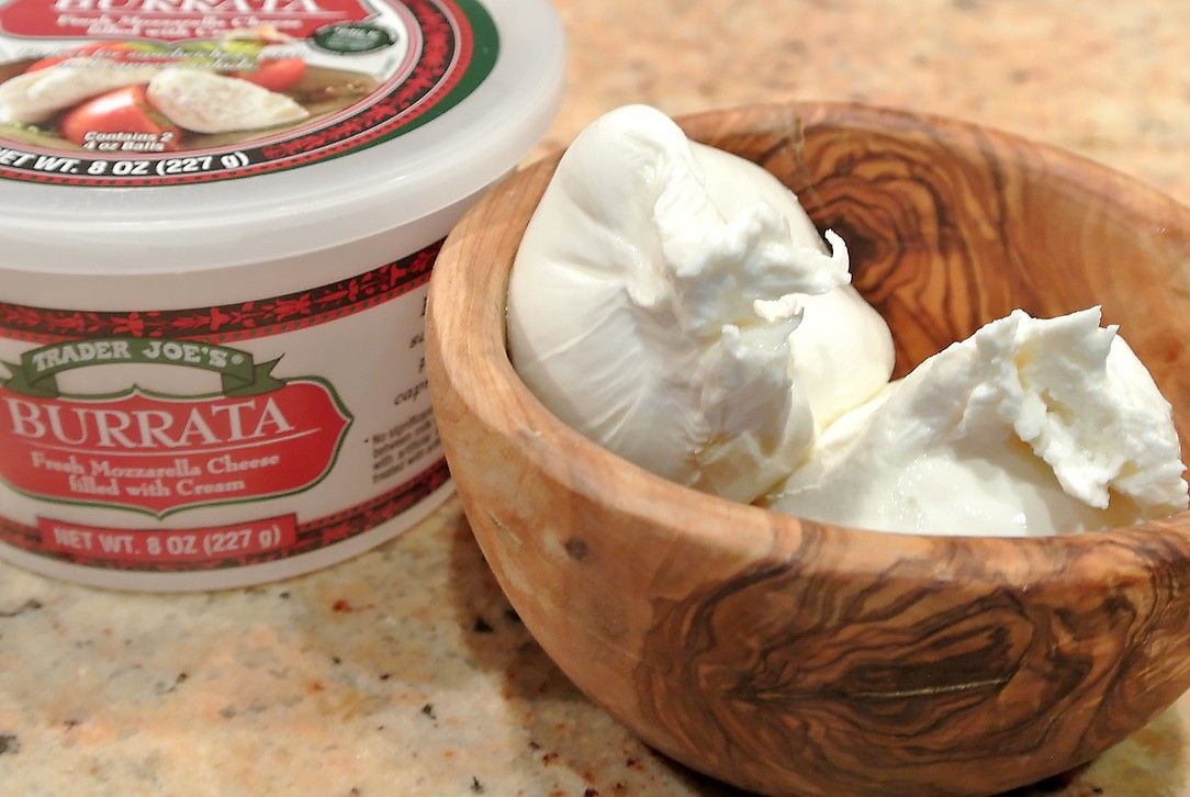 burrata at Trader Joe's
