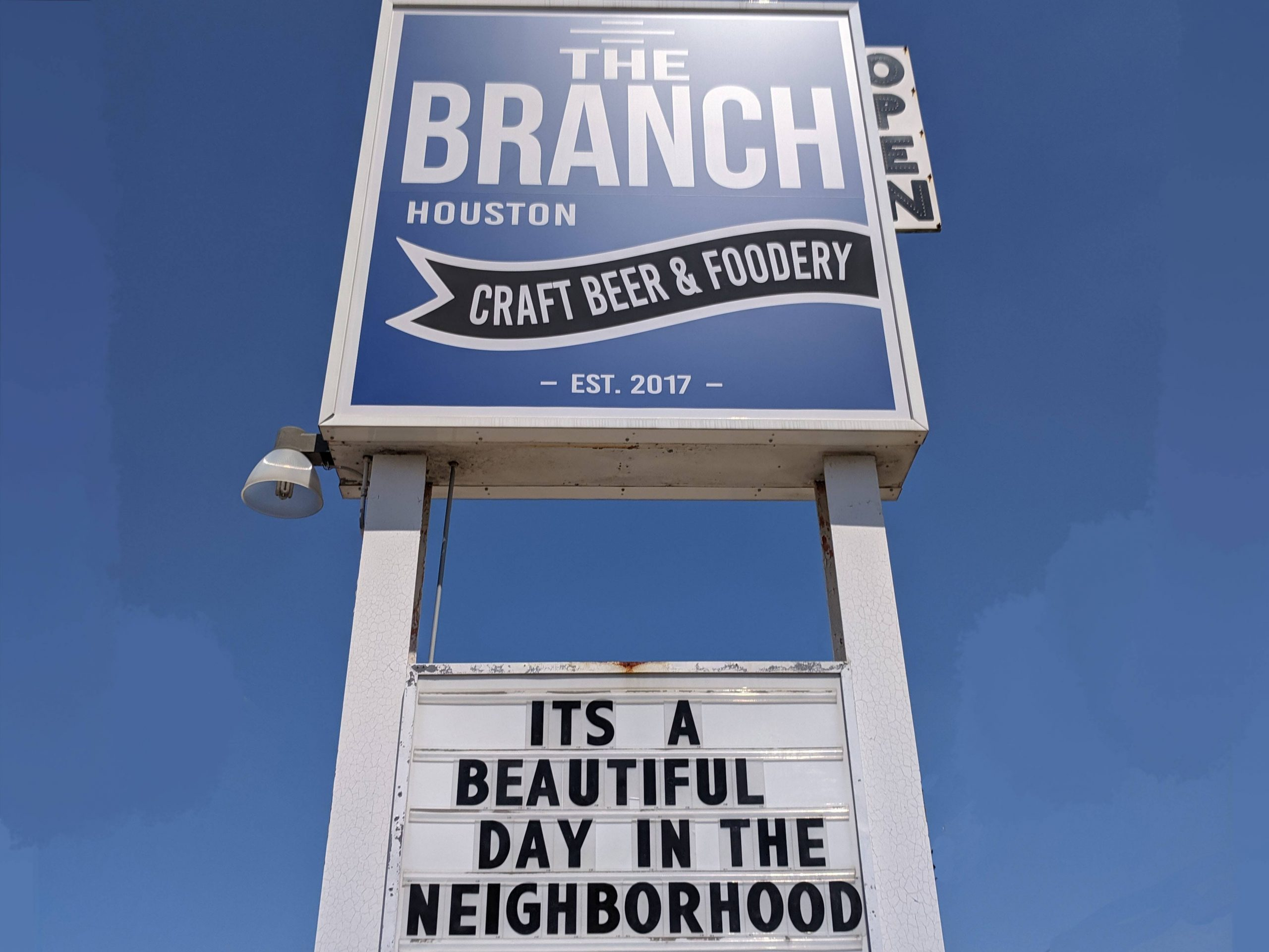 The Branch beautiful day sign