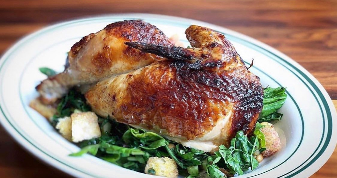 Roasted chicken at The Classic