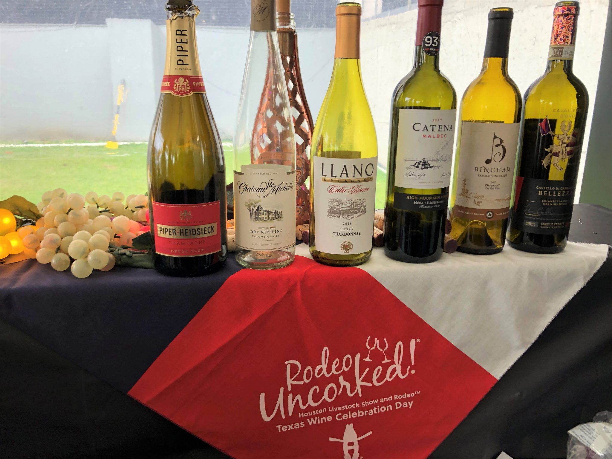 wines at the 2020 Houston Rodeo Champion Wine Garden