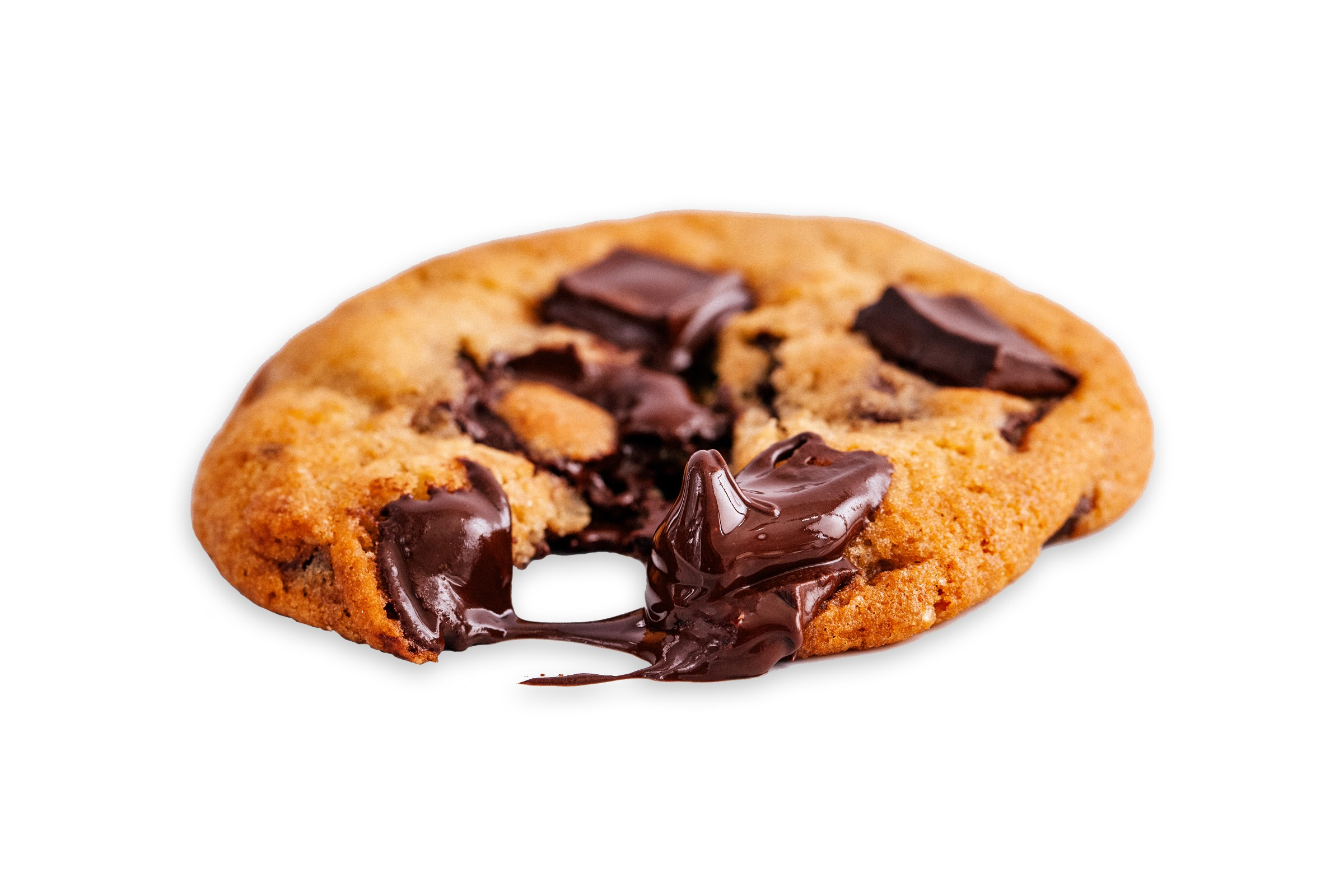 chocolate chip cookie with melting chocolate echunks
