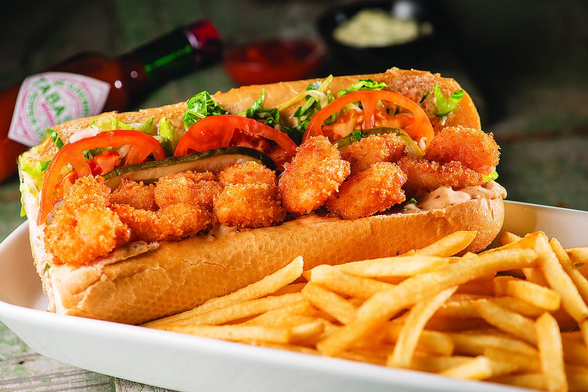 Shrimp po' boy at Orleans Seafood Kitchen