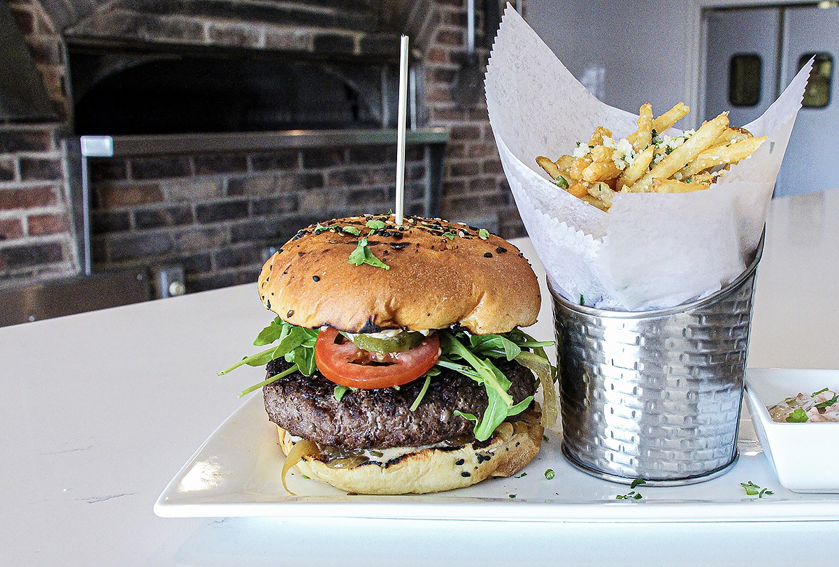 Wagyu Burger with Parmesan Truffle Fries at Ember & Green