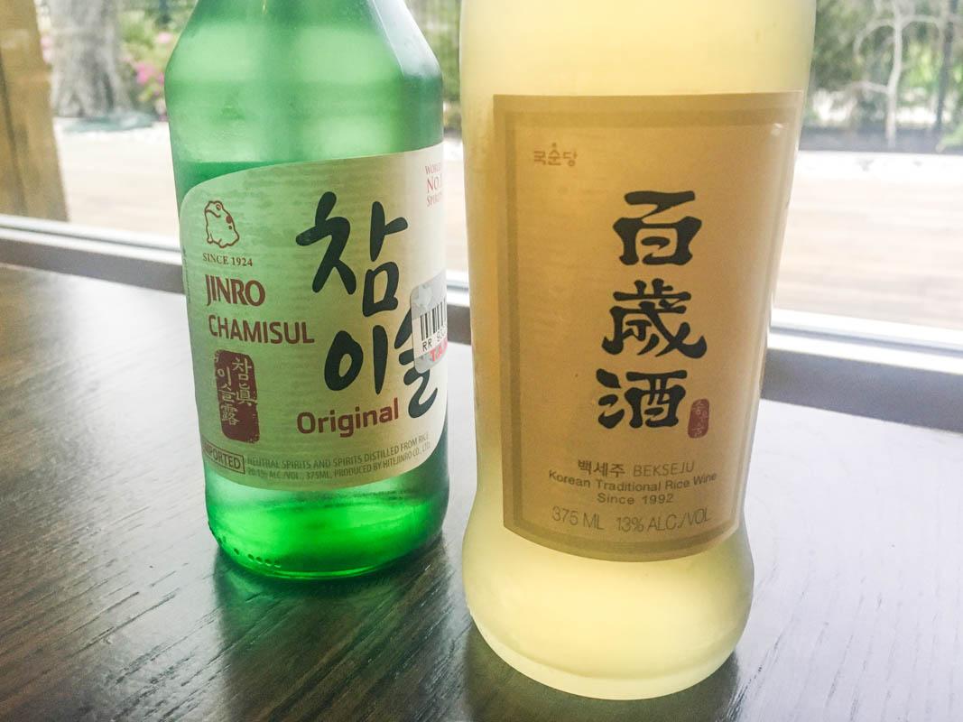 Soju selections at BORI