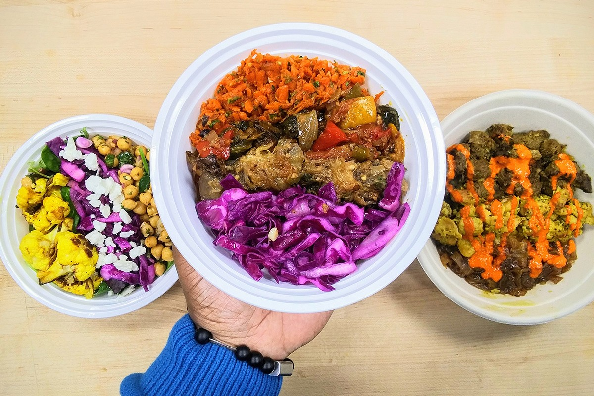 Create-Your-Own Bowl options at Zoa Moroccan Kitchen