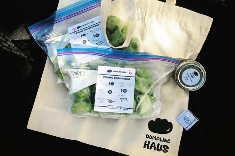Dumplings and bag