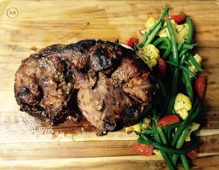 Photo of a lamb roast