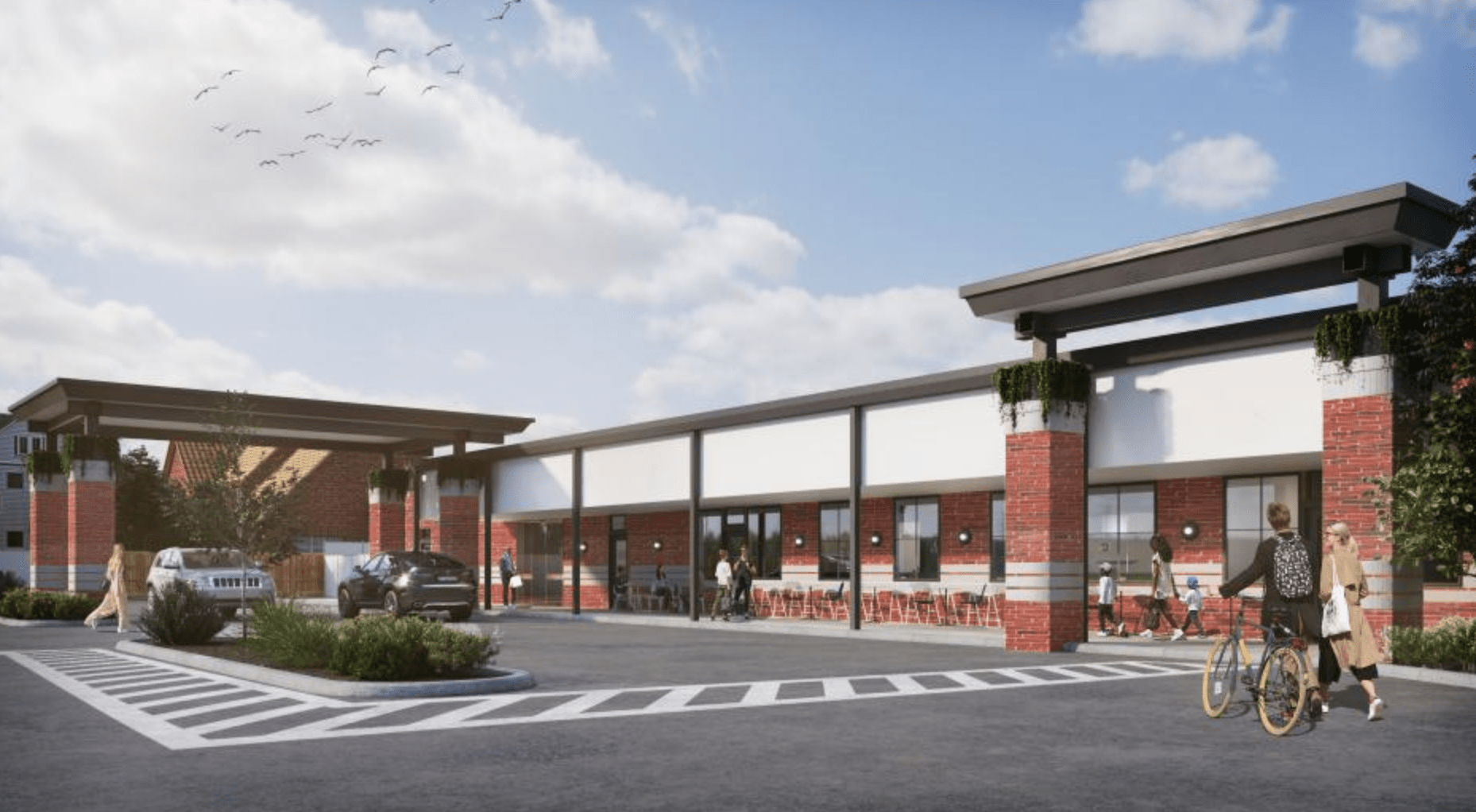 Blodgett Food Hall rendering