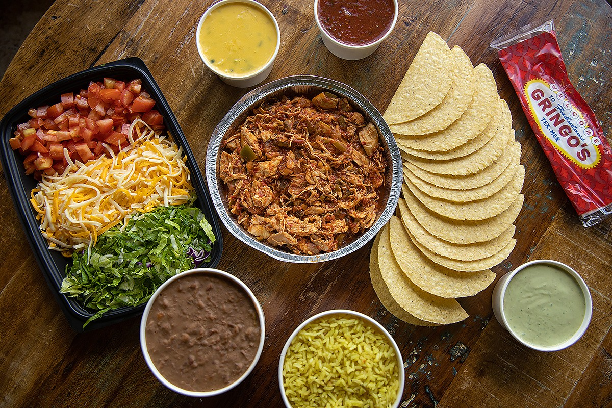 Overview photo of taco ingredients