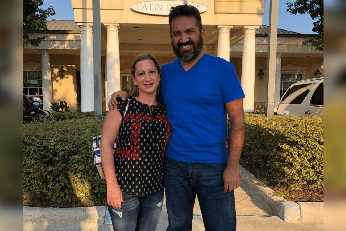 blu27 owner Caesar Vielmas with wife Kelly