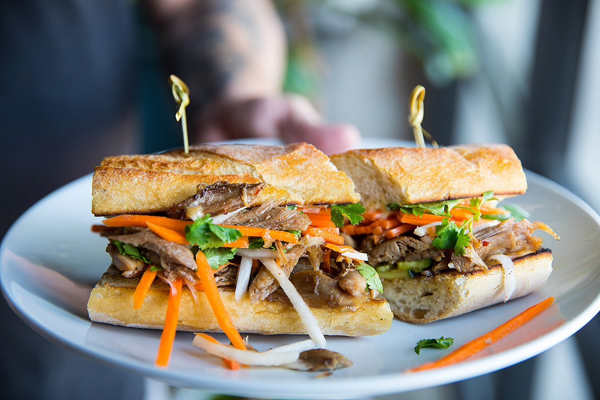 Duck Banh Mi at White Elm Cafe Bakery
