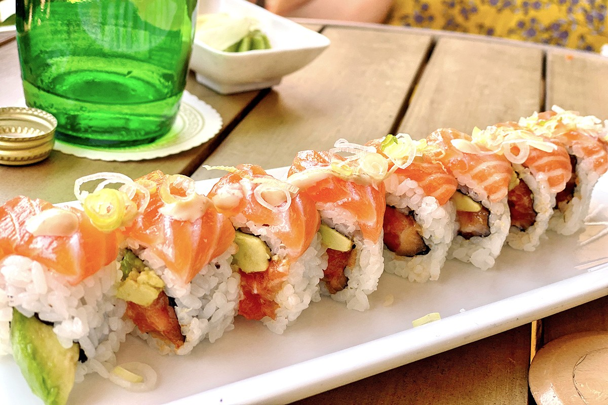 Sushi roll at Keeper's in Sugar Land