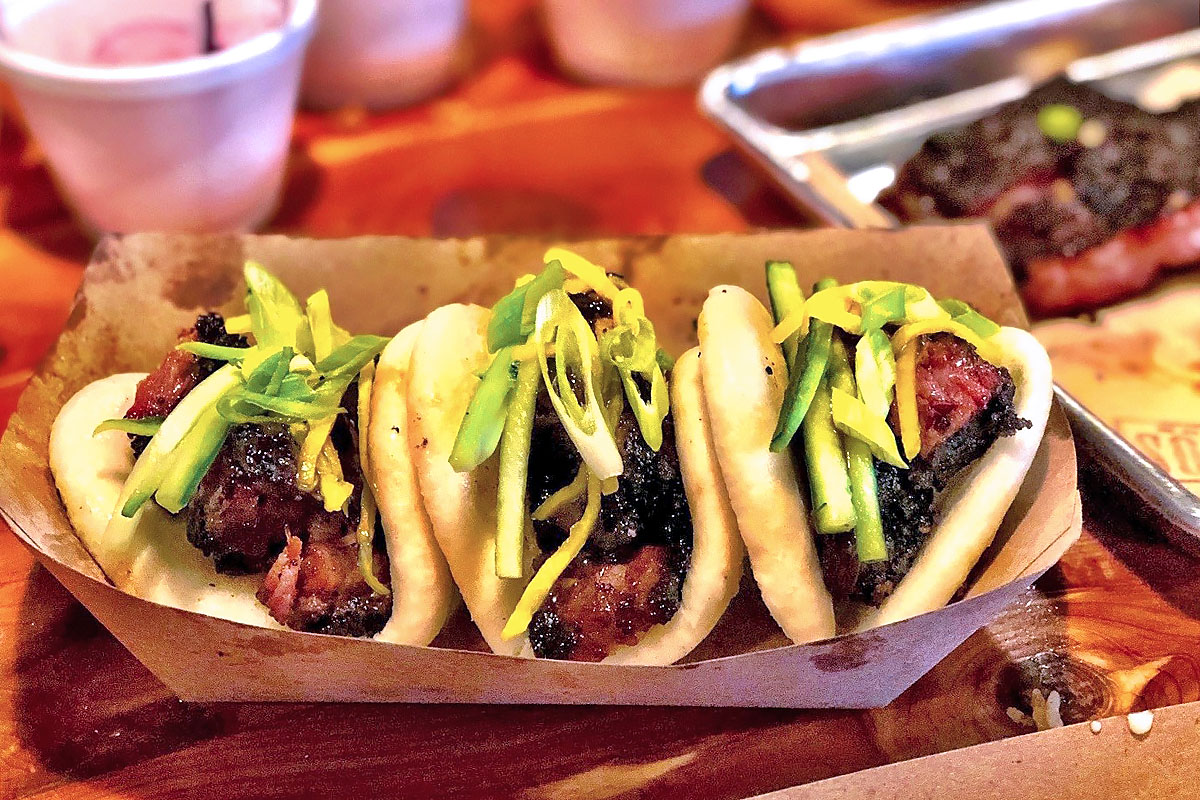 Barbecue Brisket Bao at Blood Bros. BBQ