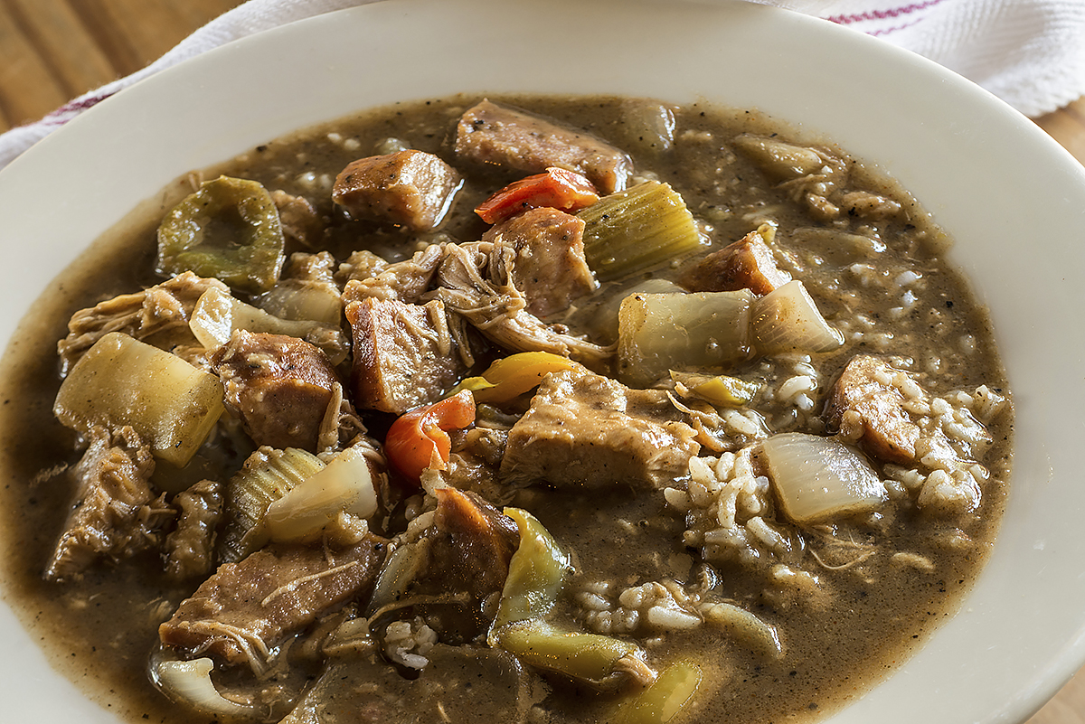 Treebeards chicken and sausage gumbo
