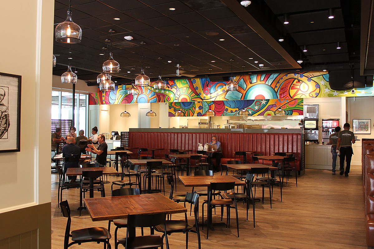 The dining room of Treebeards in Memorial features a mural by Gonzo 247. Courtesy photo.