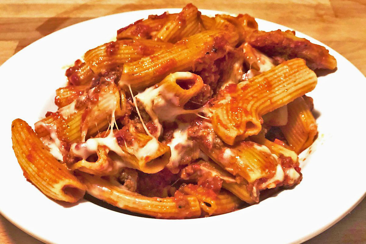 Rigatoni Bolognese from Click Virtual Food Hall.
