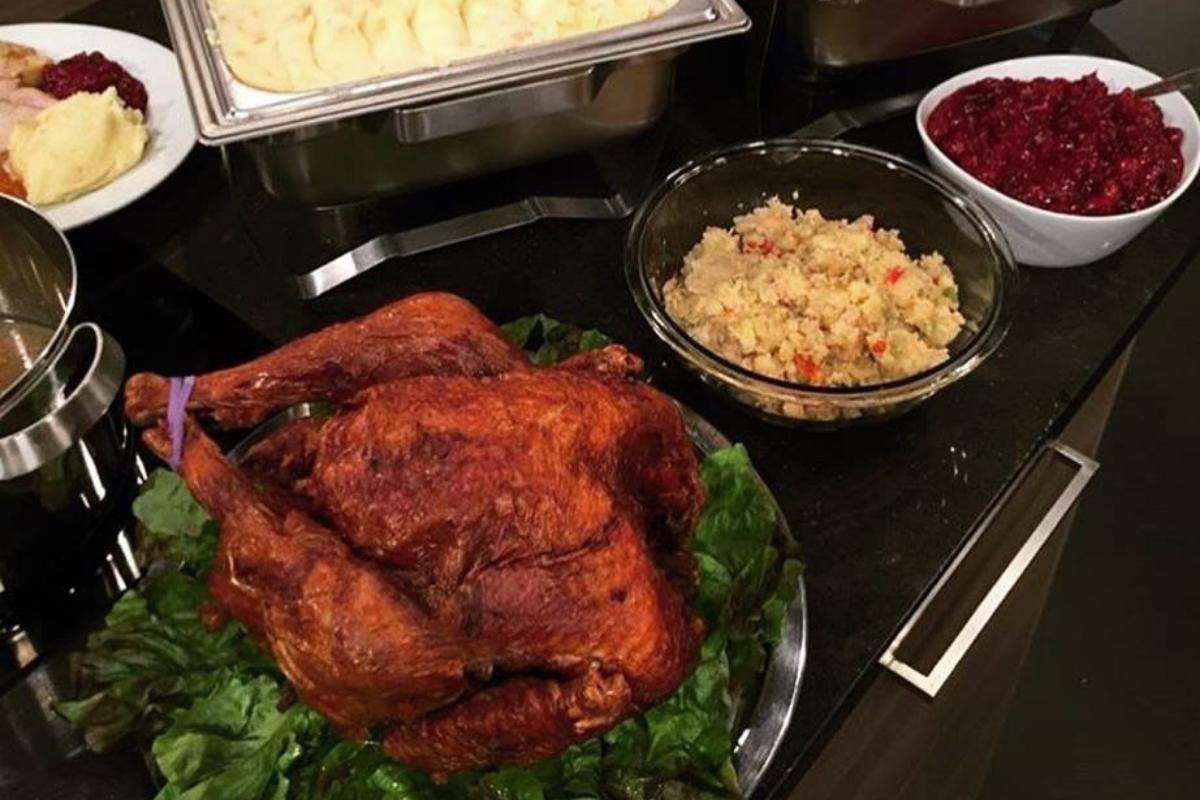 whole roasted turkey and sides