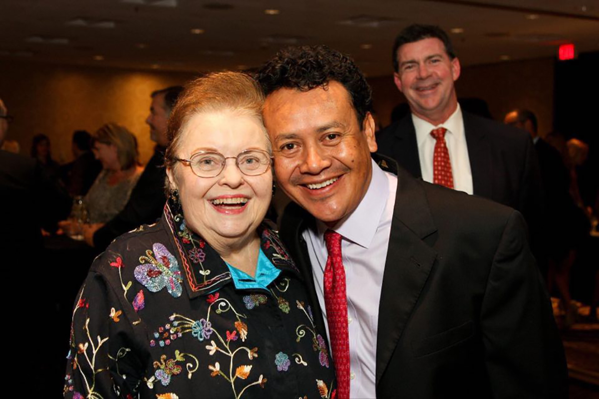 Ann Criswell and Hugo Ortega