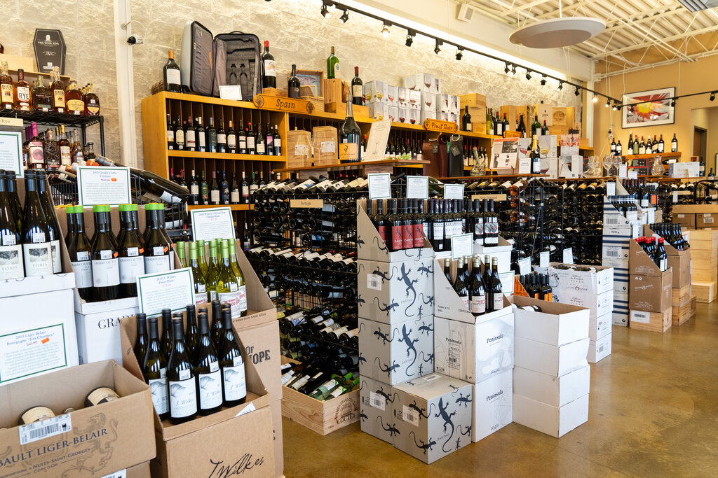 The interior of Houston Wine Merchant